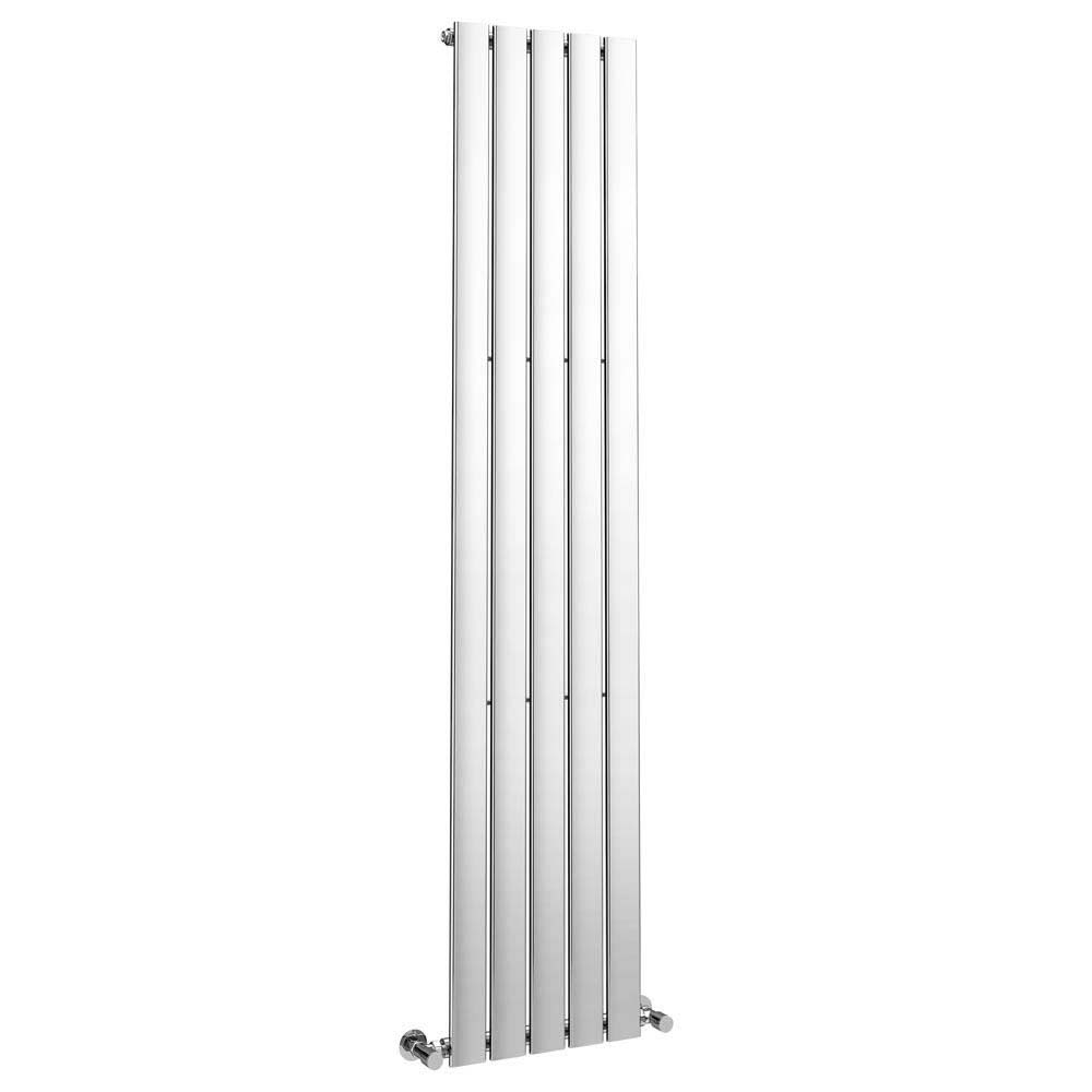 Urban Vertical Radiator - Chrome - Single Panel (H1800xW375mm) profile large image view 2
