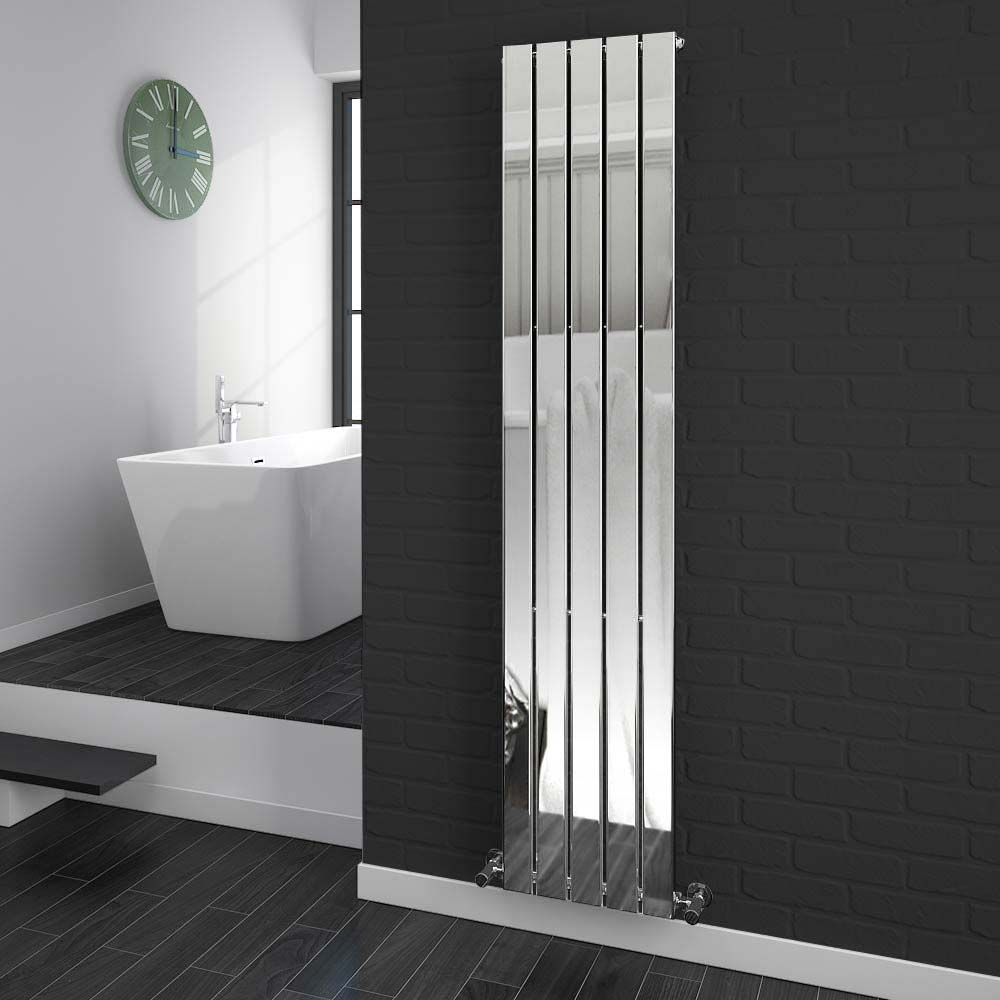 Urban Vertical Radiator - Chrome - Single Panel (H1800xW375mm) Large Image