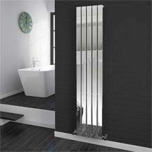 Urban Vertical Radiator - Chrome - Single Panel (H1800xW375mm) Medium Image