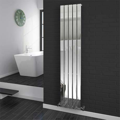 Urban Vertical Radiator - Chrome - Single Panel (H1800xW375mm)