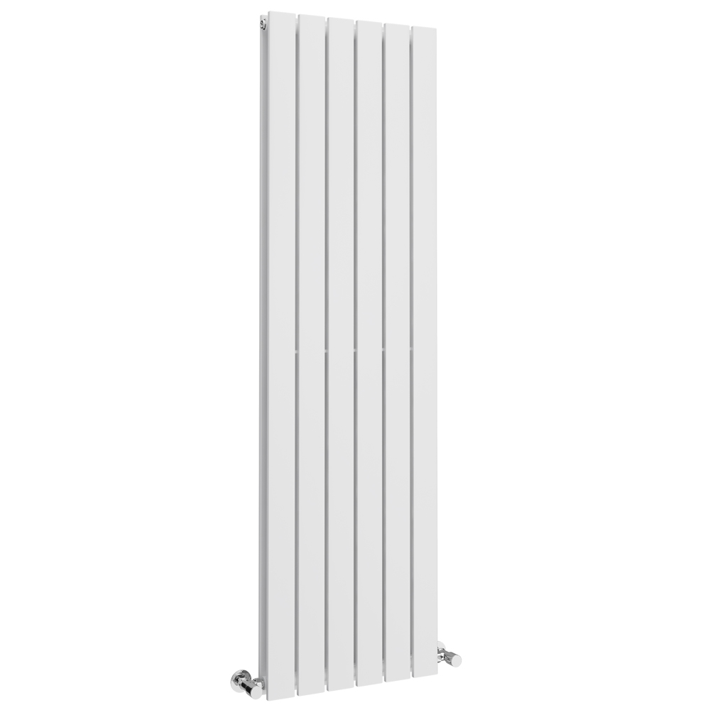Urban Vertical Radiator - White - Double Panel (1600mm High) Large Image