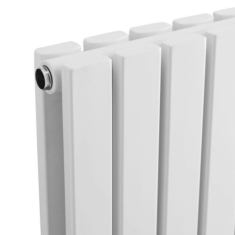 Urban Vertical Radiator - White - Double Panel (1600mm High) profile large image view 2