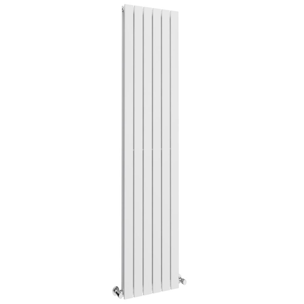 Urban Vertical Radiator - White - Double Panel (1800x354mm) Large Image