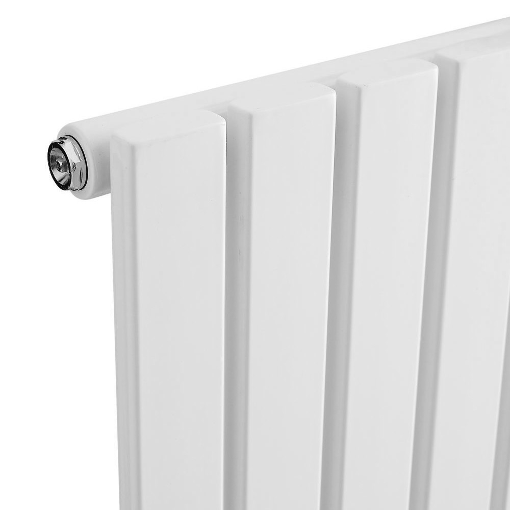 Urban Vertical Radiator - White - Single Panel (1600mm High) profile large image view 2