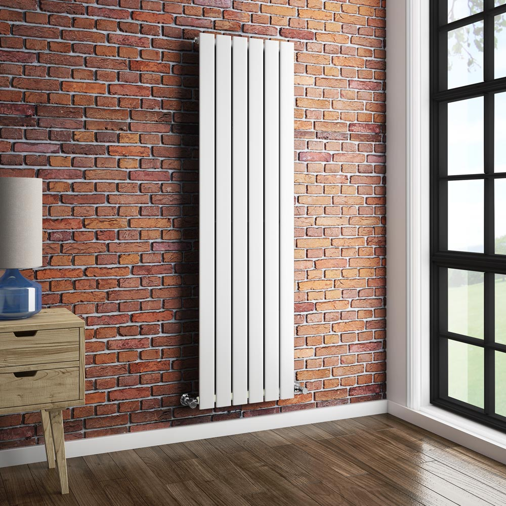 Urban Vertical Radiator - White - Single Panel (1600mm High) profile large image view 3