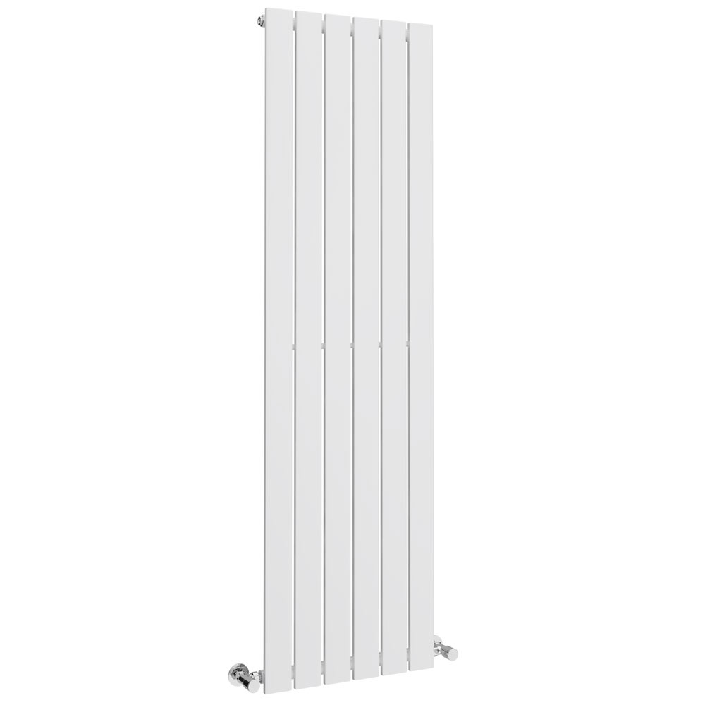 Urban Vertical Radiator - White - Single Panel (1600mm High) Large Image