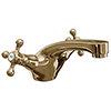 Victoria Gold Traditional Mono Basin Mixer Tap + Waste profile small image view 1