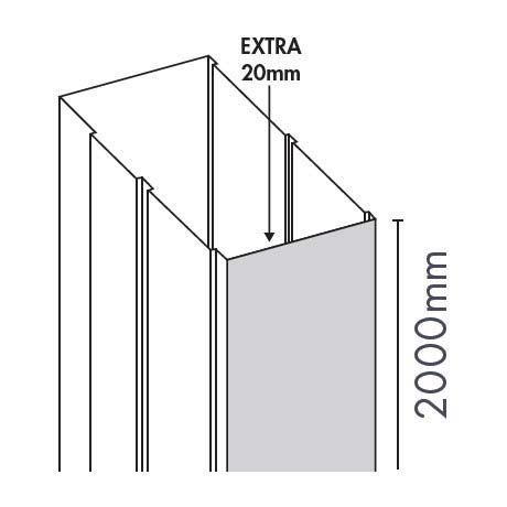 Merlyn Ionic Gravity Sliding & Quadrant Door Extension Profile profile large image view 1