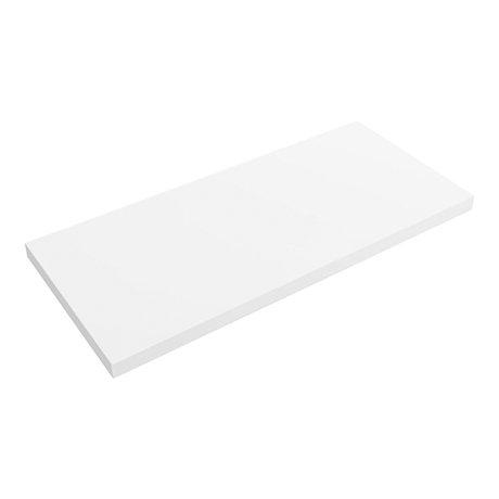 Venice Floating Basin Shelf (Gloss White - 1000mm Wide)
