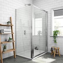 Newark 1200 x 800mm Sliding Door Shower Enclosure + Pearlstone Tray Medium Image