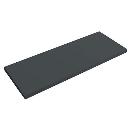 Venice Floating Basin Shelf (Gloss Grey - 1200mm Wide)