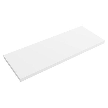 Venice Floating Basin Shelf (Gloss White - 1200mm Wide)