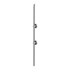 Burlington Extended Vertical Riser - Chrome - V22 profile small image view 1