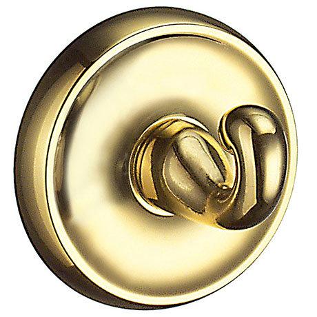 Smedbo Villa Polished Brass Towel Hook - V245