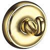 Smedbo Villa Polished Brass Towel Hook - V245 profile small image view 1