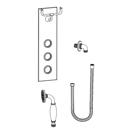 Burlington Clyde Faceplate with Cradle, Handset, Hose & Outlet Elbow - V37