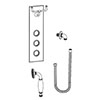 Burlington Clyde Faceplate with Cradle, Handset, Hose & Outlet Elbow - V37 profile small image view 1