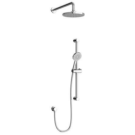 Britton Bathrooms Round Shower Kit (Inc. Round Fixed Head and Slider Kit) - V53