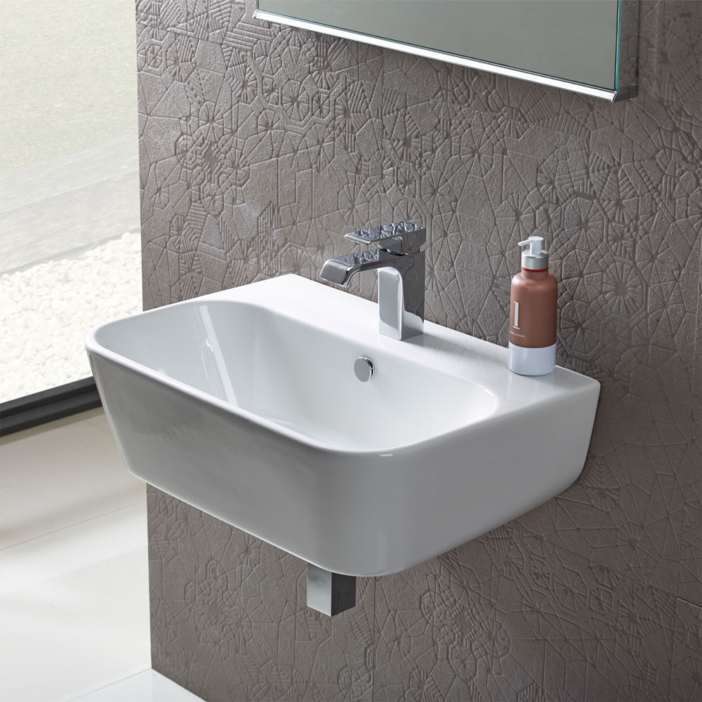Roper Rhodes Version 650mm Wall Mounted Basin - V65SB profile large image view 2