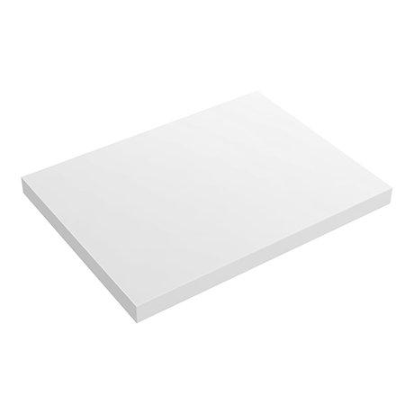 Venice Floating Basin Shelf (Gloss White - 600mm Wide)