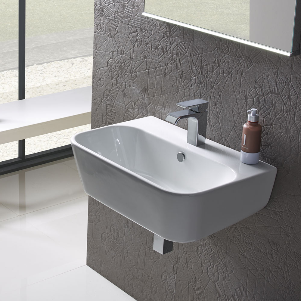 Roper Rhodes Version 750mm Wall Mounted Basin - V75SB profile large image view 2