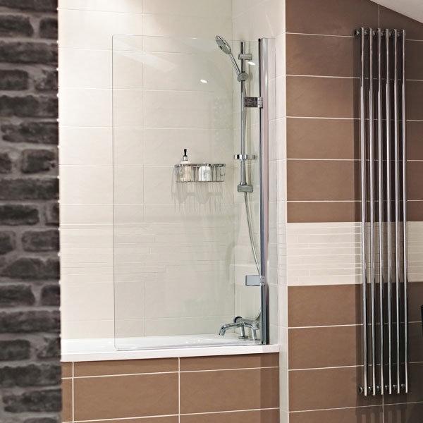 Roman - Lumin8 Frameless Hinged Bath Screen - Left or Right Hand Option Large Image