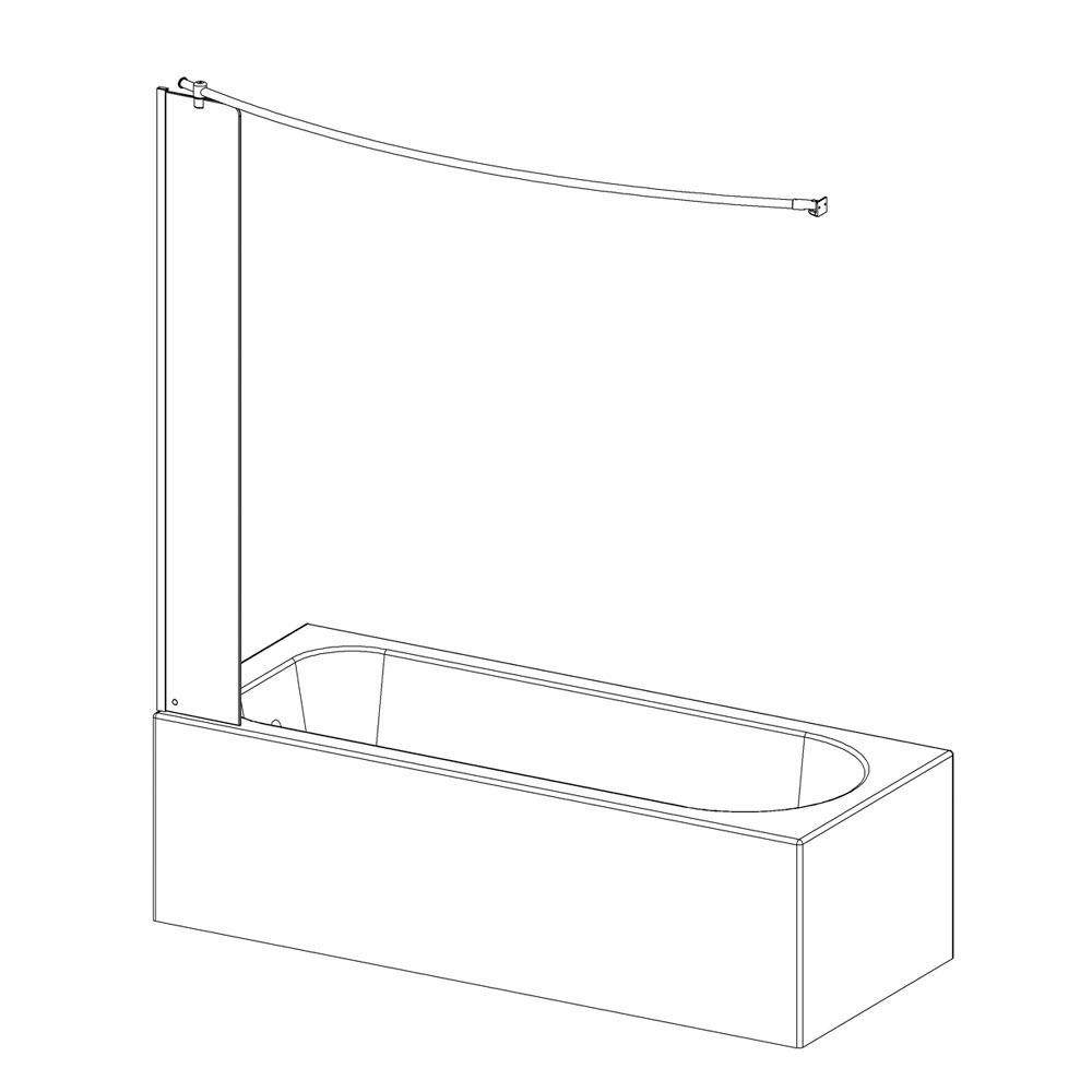 Roman Lumin8 Mini Fixed Bath Screen profile large image view 3