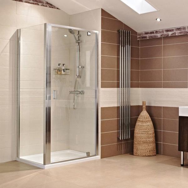 Roman - Lumin8 Pivot Shower Door - Various Size Options Standard Large Image