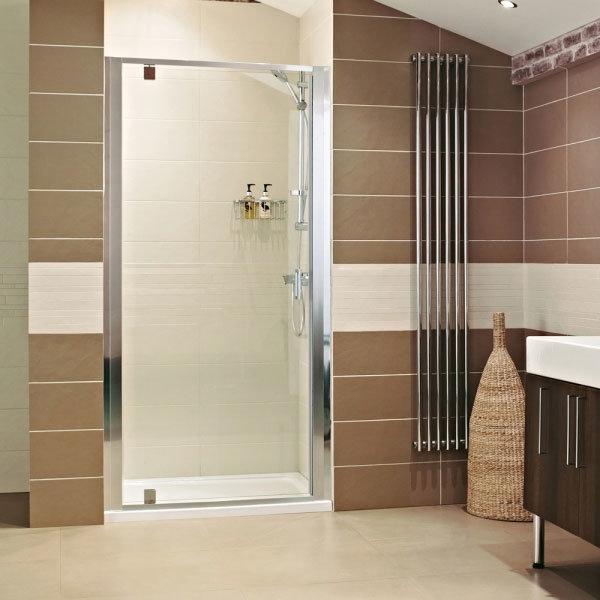 Roman - Lumin8 Pivot Shower Door - Various Size Options Large Image