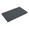 Venice Floating Basin Shelf (Gloss Grey - 800mm Wide) profile small image view 1