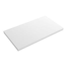 Venice Floating Basin Shelf (Gloss White - 800mm Wide)