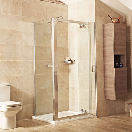 Roman Lumin8 Inward-Opening Shower Door - Various Size Options Feature Large Image