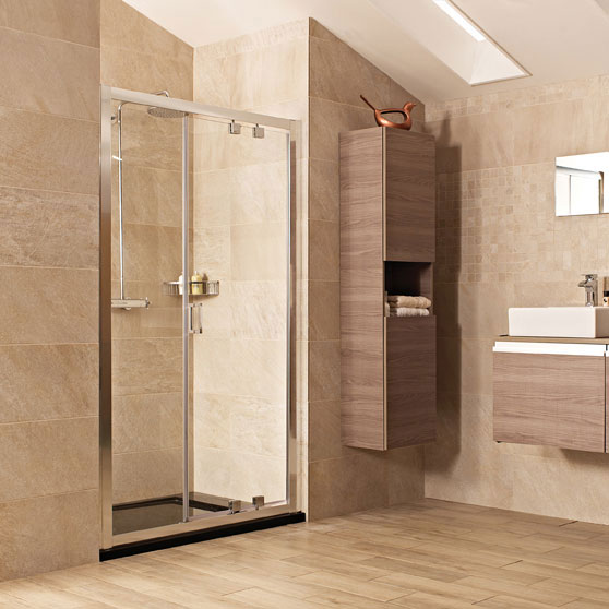 Roman Lumin8 Inward-Opening Shower Door - Various Size Options Large Image