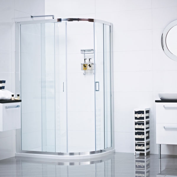 Roman - Lumin8 Two Door Offset Quadrant Shower Enclosure - Various Size Options Large Image