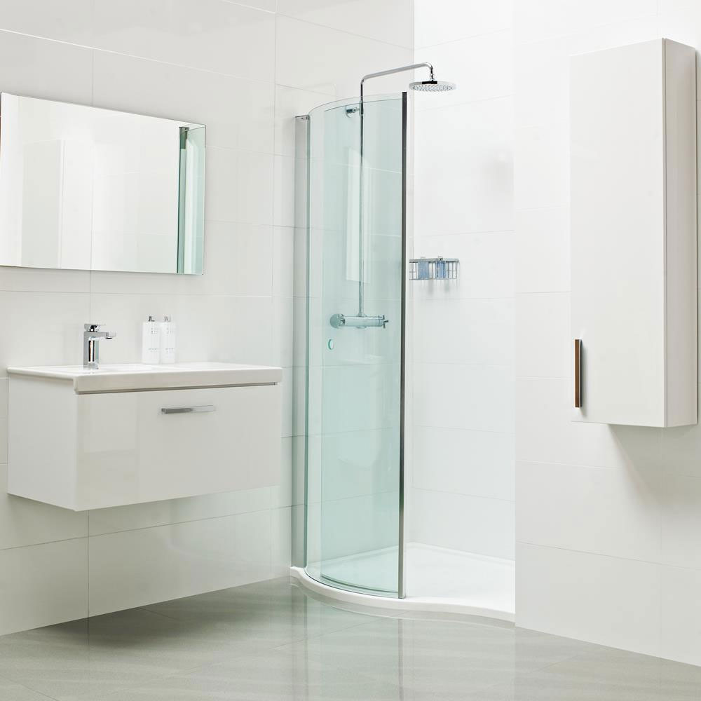 Roman Lumin8 Wave Walk-In Shower Enclosure profile large image view 2