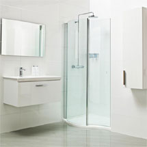 Roman Lumin8 Wave Walk-In Shower Enclosure Medium Image