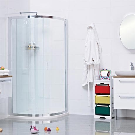 Roman - Lumin8 One Door Quadrant Shower Enclosure - 2 Size Options