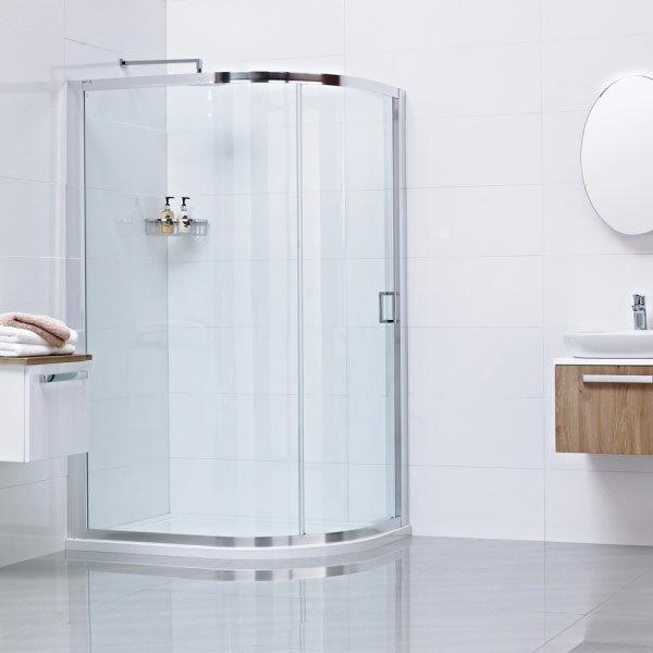 Roman Lumin8 One Door Offset Quadrant Shower Enclosure - Various Size Options