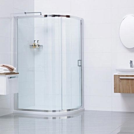 Roman - Lumin8 One Door Offset Quadrant Shower Enclosure - Various Size Options