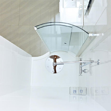 Roman Lumin8 Wave Walk-In Shower Tray - Matt White