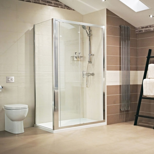 Roman - Lumin8 Sliding Shower Door - Various Size Options Feature Large Image