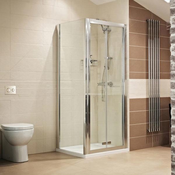 Roman - Lumin8 Bi-Fold Shower Door - Various Size Options Standard Large Image