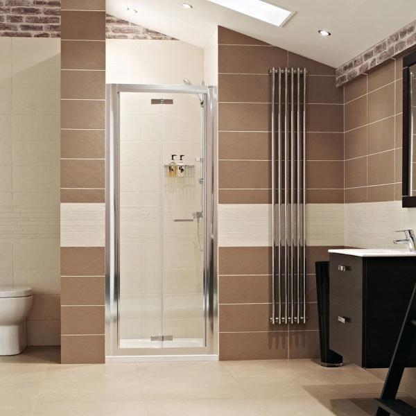 Roman - Lumin8 Bi-Fold Shower Door - Various Size Options Large Image
