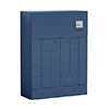 Venice Abstract WC Unit - Blue - 600mm profile small image view 1