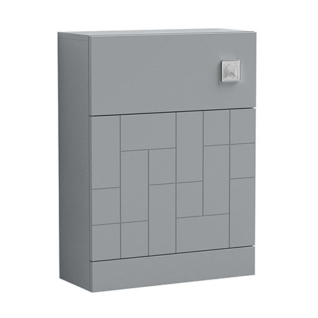 Venice Abstract WC Unit - Grey - 600mm