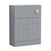 Venice Abstract WC Unit - Grey - 600mm profile small image view 1