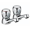 Bristan - Club Basin Taps - Chrome with Metal Heads - VAC-1/2-C-MT profile small image view 1