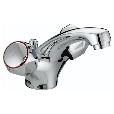 Bristan - Club Mono Basin Mixer w/ Pop Up Waste - Chrome w/ Metal Heads - VAC-BAS-C-MT