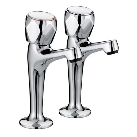 Bristan - Club High Neck Pillar Taps - VAC-HNK-C-MT