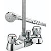 Bristan - Club Luxury Bath Shower Mixer - Chrome with Metal Heads - VAC-LBSM-C-MT profile small image view 1